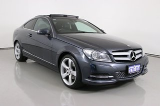 2013 Mercedes-Benz C250 W204 MY12 BE Grey 7 Speed Automatic G-Tronic Coupe.