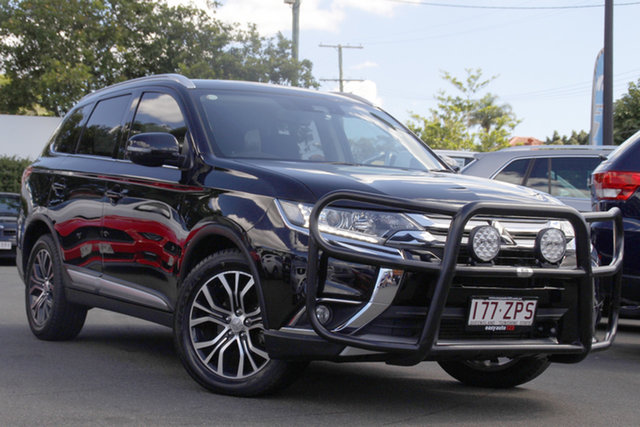 Used Mitsubishi Outlander ZK MY17 LS 4WD Safety Pack Mount Gravatt, 2016 Mitsubishi Outlander ZK MY17 LS 4WD Safety Pack Black 6 Speed Sports Automatic Wagon