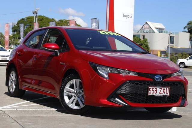 Pre-Owned Toyota Corolla ZWE211R Ascent Sport E-CVT Hybrid Albion, 2019 Toyota Corolla ZWE211R Ascent Sport E-CVT Hybrid Feverish Red 10 Speed Constant Variable