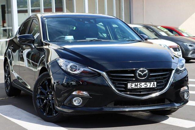 Used Mazda 3 BM5438 SP25 SKYACTIV-Drive Astina Wollongong, 2016 Mazda 3 BM5438 SP25 SKYACTIV-Drive Astina Jet Black 6 Speed Sports Automatic Hatchback