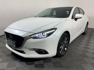 2018 Mazda 3 BN5438 SP25 SKYACTIV-Drive Astina White Pearl 6 Speed Sports Automatic Hatchback