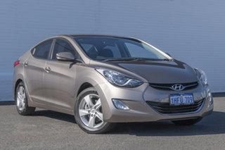 2012 Hyundai Elantra MD Elite Gold 6 Speed Sports Automatic Sedan.