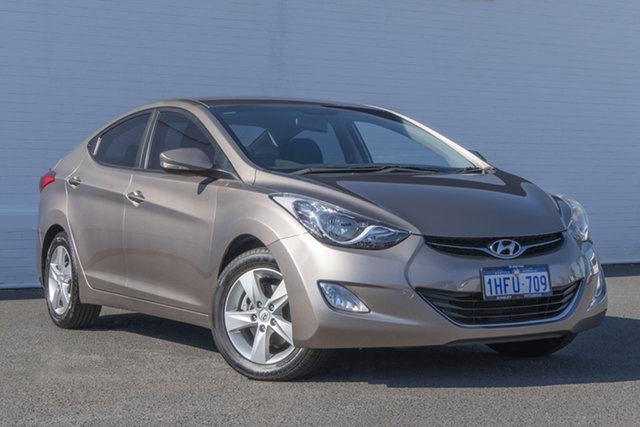 Used Hyundai Elantra MD Elite Bunbury, 2012 Hyundai Elantra MD Elite Gold 6 Speed Sports Automatic Sedan