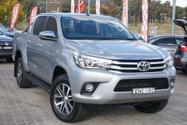 Used Toyota Hilux GUN126R SR5 Double Cab Phillip, 2017 Toyota Hilux GUN126R SR5 Double Cab Silver 6 Speed Sports Automatic Utility
