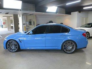 2016 BMW M3 F80 LCI Competition M-DCT Yasmarinablue 7 Speed Sports Automatic Dual Clutch Sedan