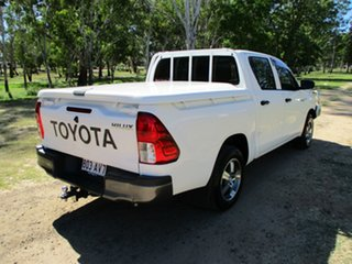2017 Toyota Hilux GUN122R Workmate Glacier White 5 Speed Manual Dual Cab Utility