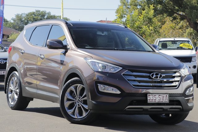 Used Hyundai Santa Fe DM MY13 Highlander Toowoomba, 2013 Hyundai Santa Fe DM MY13 Highlander Arabian Mocha 6 Speed Sports Automatic Wagon
