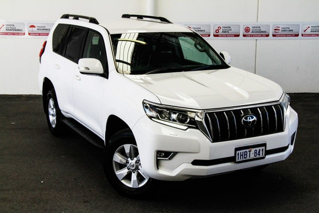 Pre-Owned Toyota Landcruiser Prado GDJ150R GXL Rockingham, 2018 Toyota Landcruiser Prado GDJ150R GXL Glacier White 6 Speed Sports Automatic Wagon