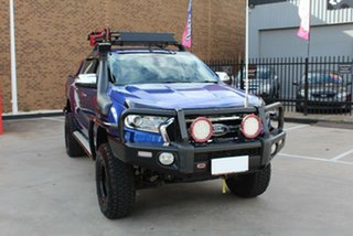 2016 Ford Ranger PX MkII XLT 3.2 (4x4) Blue 6 Speed Manual Double Cab Pick Up.