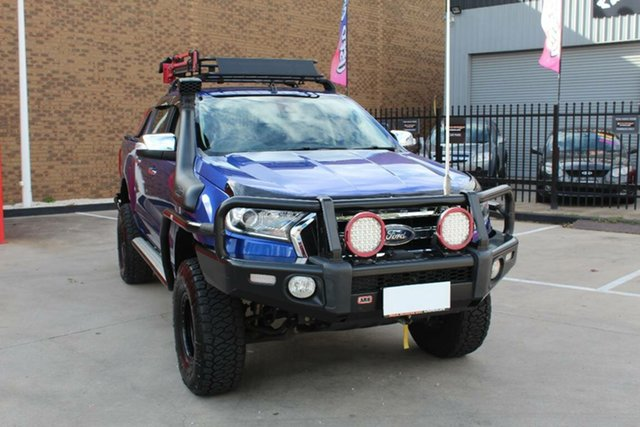 Used Ford Ranger PX MkII XLT 3.2 (4x4) Hoppers Crossing, 2016 Ford Ranger PX MkII XLT 3.2 (4x4) Blue 6 Speed Manual Double Cab Pick Up