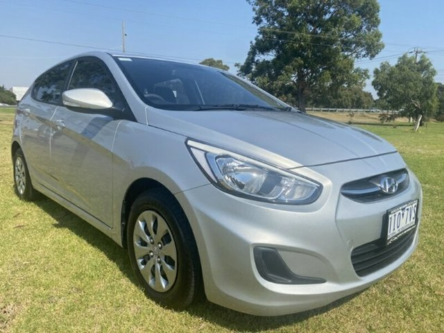 Used Hyundai Accent RB3 MY16 Active Ravenhall, 2016 Hyundai Accent RB3 MY16 Active Silver 6 Speed Constant Variable Hatchback