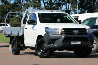 2017 Toyota Hilux TGN121R Workmate 4x2 White 5 Speed Manual Cab Chassis.