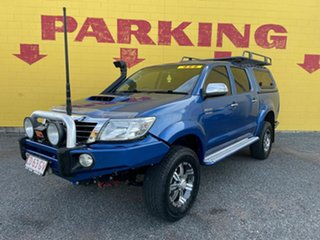 2012 Toyota Hilux KUN26R MY12 SR5 Double Cab Blue 5 Speed Manual Utility