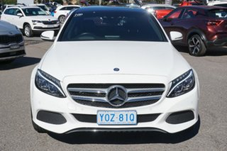 2015 Mercedes-Benz C-Class W205 C200 7G-Tronic + White 7 Speed Sports Automatic Sedan.