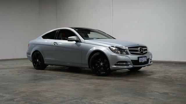 Used Mercedes-Benz C-Class C204 MY13 C250 BlueEFFICIENCY 7G-Tronic + Welshpool, 2012 Mercedes-Benz C-Class C204 MY13 C250 BlueEFFICIENCY 7G-Tronic + Silver 7 Speed Sports Automatic