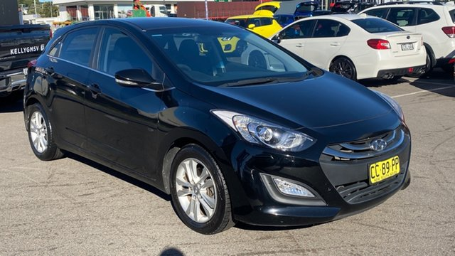Used Hyundai i30 GD MY14 Elite Cardiff, 2014 Hyundai i30 GD MY14 Elite Black 6 Speed Sports Automatic Hatchback