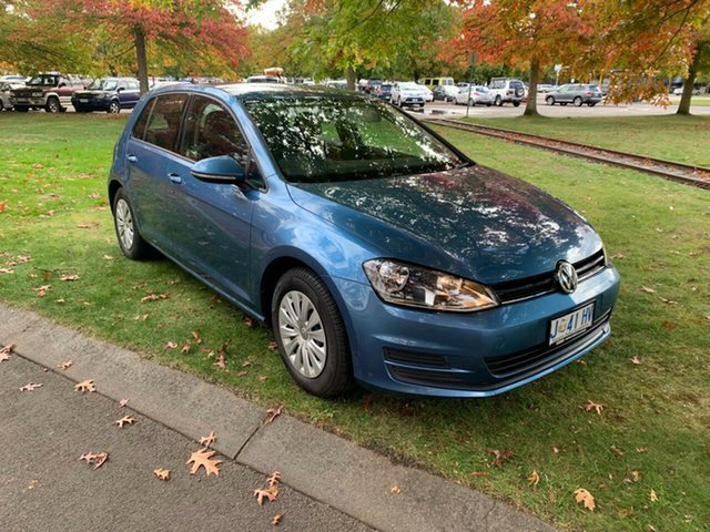 Used Volkswagen Golf VII MY17 92TSI DSG Devonport, 2017 Volkswagen Golf VII MY17 92TSI DSG Blue 7 Speed Sports Automatic Dual Clutch Hatchback