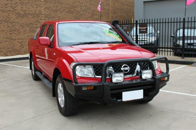 Used Nissan Navara D40 ST (4x4) Hoppers Crossing, 2010 Nissan Navara D40 ST (4x4) Red 6 Speed Manual Dual Cab Pick-up