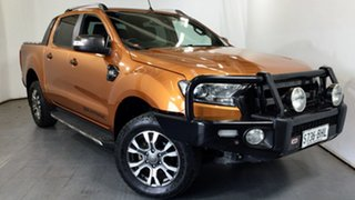 2015 Ford Ranger PX MkII Wildtrak Double Cab Orange 6 Speed Sports Automatic Utility.