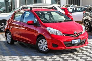 2012 Toyota Yaris NCP130R YR Red 5 Speed Manual Hatchback.