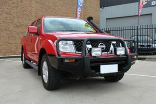 2010 Nissan Navara D40 ST (4x4) Red 6 Speed Manual Dual Cab Pick-up