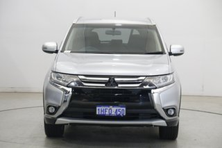 2016 Mitsubishi Outlander ZK MY16 LS 4WD Apex Silver 6 Speed Constant Variable Wagon.