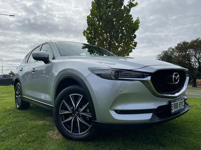 Used Mazda CX-5 KF4WLA GT SKYACTIV-Drive i-ACTIV AWD Hindmarsh, 2018 Mazda CX-5 KF4WLA GT SKYACTIV-Drive i-ACTIV AWD Sonic Silver 6 Speed Sports Automatic Wagon
