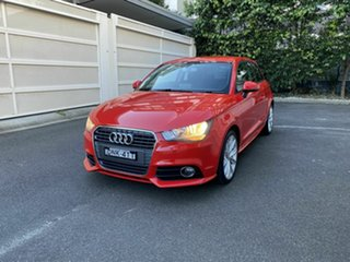 2012 Audi A1 8X MY12 Ambition S Tronic Competition Kit LE Red 7 Speed Sports Automatic Dual Clutch