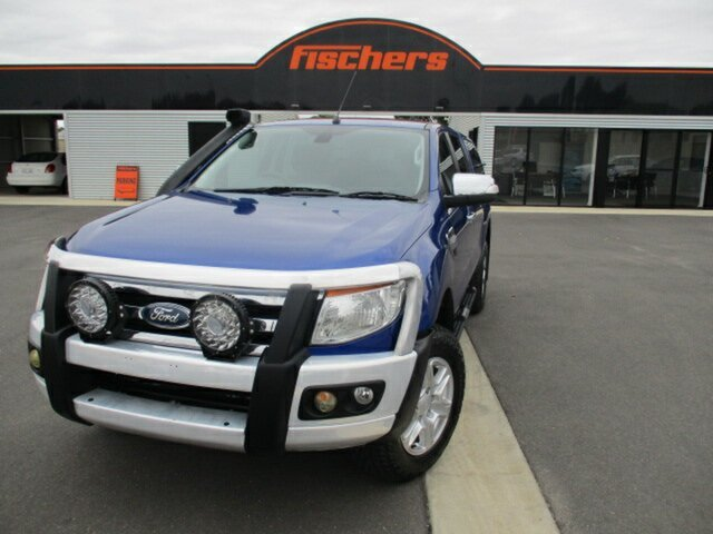 Used Ford Ranger PX XLT Double Cab Murray Bridge, 2013 Ford Ranger PX XLT Double Cab Blue 6 Speed Manual Utility