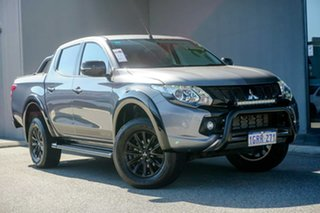 2018 Mitsubishi Triton MQ MY18 Blackline Double Cab Grey 5 Speed Sports Automatic Utility.