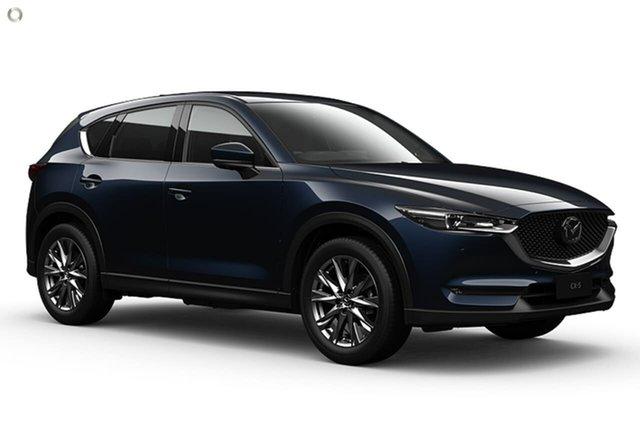 Demo Mazda CX-5 KF4WLA Akera SKYACTIV-Drive i-ACTIV AWD Waitara, 2021 Mazda CX-5 KF4WLA Akera SKYACTIV-Drive i-ACTIV AWD Blue 6 Speed Sports Automatic Wagon