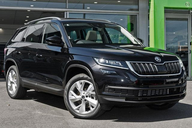 Demo Skoda Kodiaq NS MY20.5 132TSI DSG Botany, 2020 Skoda Kodiaq NS MY20.5 132TSI DSG Black 7 Speed Sports Automatic Dual Clutch Wagon