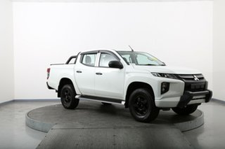2018 Mitsubishi Triton MQ MY18 GLX White 6 Speed Manual Cab Chassis.