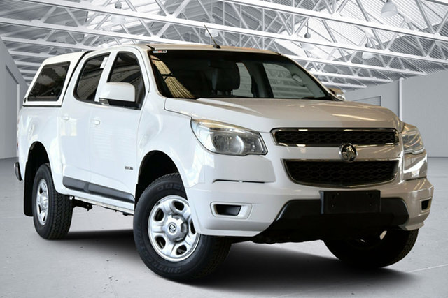 Used Holden Colorado RG MY14 LX Crew Cab 4x2 Perth Airport, 2014 Holden Colorado RG MY14 LX Crew Cab 4x2 Summit White 6 Speed Sports Automatic Utility