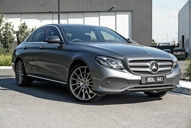Used Mercedes-Benz E-Class W213 809+059MY E300 9G-Tronic PLUS Essendon Fields, 2019 Mercedes-Benz E-Class W213 809+059MY E300 9G-Tronic PLUS Grey 9 Speed Sports Automatic Sedan