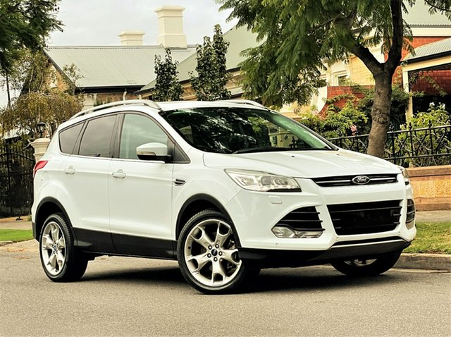 Used Ford Kuga TF MY15 Titanium PwrShift AWD Hyde Park, 2015 Ford Kuga TF MY15 Titanium PwrShift AWD White 6 Speed Sports Automatic Dual Clutch Wagon