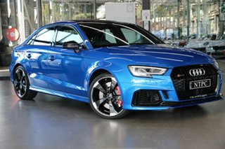 2018 Audi RS 3 8V MY18 S Tronic Quattro Blue 7 Speed Sports Automatic Dual Clutch Sedan.
