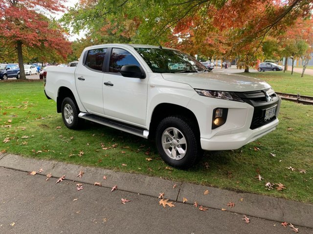 Used Mitsubishi Triton MR MY19 GLX+ Double Cab Launceston, 2019 Mitsubishi Triton MR MY19 GLX+ Double Cab White 6 Speed Manual Utility
