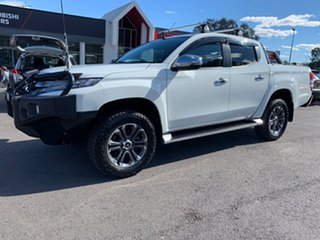 2018 Mitsubishi Triton MR MY19 GLS Double Cab Premium White 6 Speed Sports Automatic Utility.