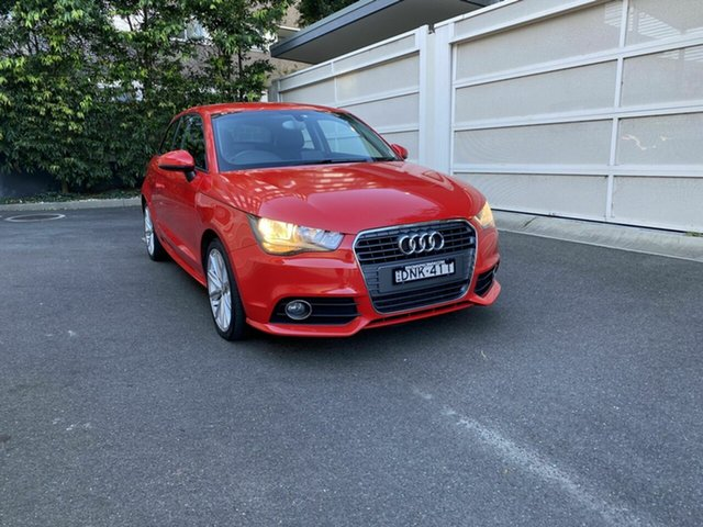 Used Audi A1 8X MY12 Ambition S Tronic Competition Kit LE Zetland, 2012 Audi A1 8X MY12 Ambition S Tronic Competition Kit LE Red 7 Speed Sports Automatic Dual Clutch