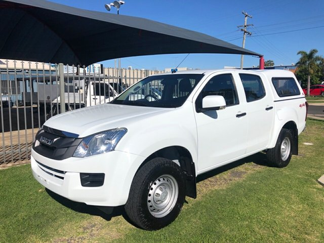 Used Isuzu D-MAX TF MY15 SX (4x4) Toowoomba, 2014 Isuzu D-MAX TF MY15 SX (4x4) White 5 Speed Manual Crew Cab Chassis