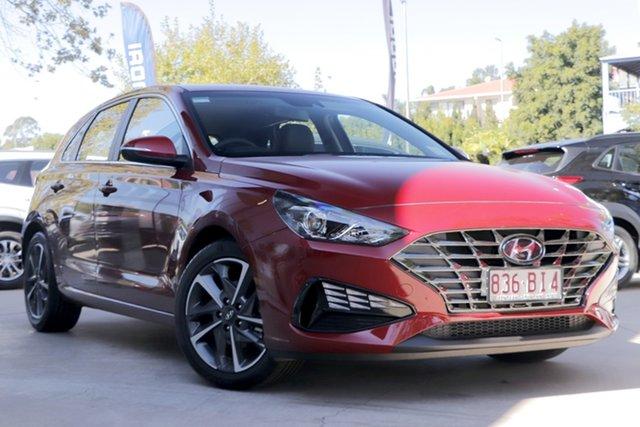 Demo Hyundai i30 PD.V4 MY21 Active Toowoomba, 2020 Hyundai i30 PD.V4 MY21 Active Fiery Red 6 Speed Sports Automatic Hatchback