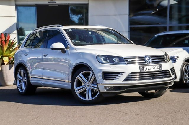 Used Volkswagen Touareg 7P MY15 V8 TDI Tiptronic 4MOTION R-Line Sutherland, 2015 Volkswagen Touareg 7P MY15 V8 TDI Tiptronic 4MOTION R-Line White 8 Speed Sports Automatic Wagon