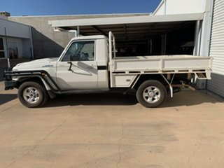 2018 Toyota Landcruiser VDJ79R GXL (4x4) White 5 Speed Manual Cab Chassis.