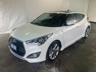 2015 Hyundai Veloster FS4 Series II SR Coupe D-CT Turbo + White 7 Speed Sports Automatic Dual Clutch.