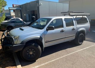 2007 Holden Rodeo RA MY07 LX Crew Cab Silver 5 Speed Manual Cab Chassis.