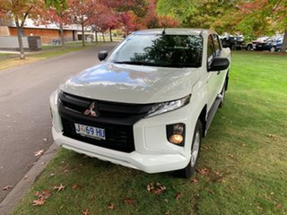 2019 Mitsubishi Triton MR MY19 GLX+ Double Cab White 6 Speed Manual Utility.