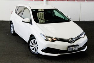 2016 Toyota Corolla ZRE182R MY15 Ascent Glacier White 7 Speed CVT Auto Sequential Hatchback.