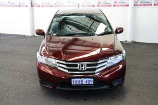 2012 Honda City GM MY12 VTi Red 5 Speed Automatic Sedan