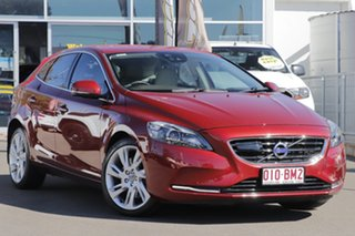 2014 Volvo V40 M Series MY14 T4 Adap Geartronic Luxury Red 6 Speed Sports Automatic Hatchback.